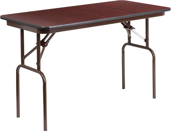 Flash Furniture 24 X 48 Mahogany Melamine Laminate Folding Banquet Table FLF-YT-2448-MEL-WAL-GG