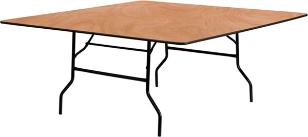 Flash Furniture Natural Wood 72 Inch Square Folding Banquet Table FLF-YT-WFFT72-SQ-GG