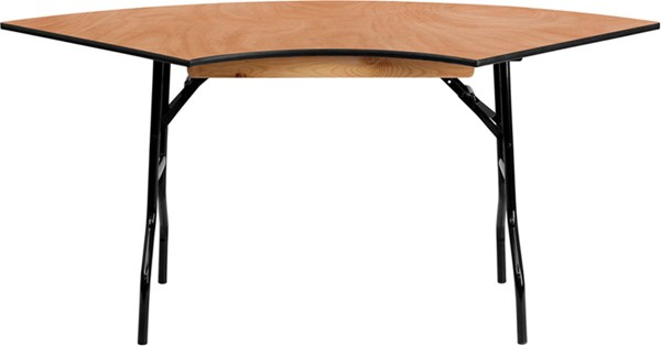 Flash Furniture 5.5 ft. X 2.5 ft. Serpentine Wood Folding Banquet Table FLF-YT-WSFT48-30-SP-GG