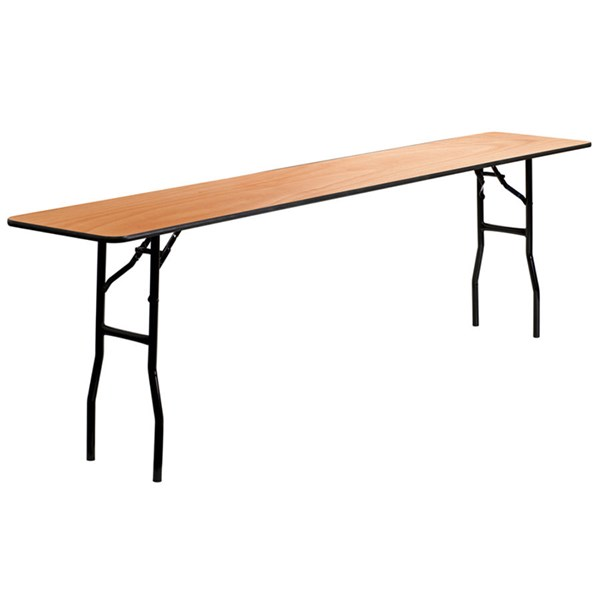 18 W X 96 L Rectangular  Seminar Table W/Clear Coated Finished Top FLF-YT-WTFT18X96-TBL-GG