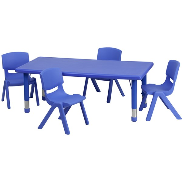 Flash Furniture Plastic 5pc Activity Table Set with 4 Chairs FLF-YUYCX00132TBL-RGGKTCHV1