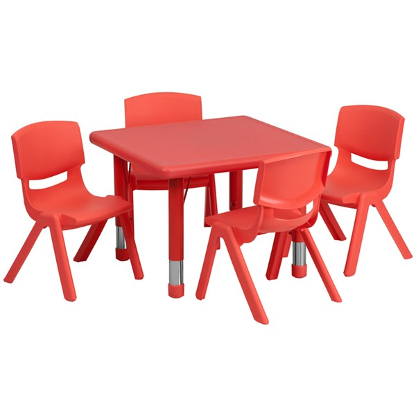 Flash Furniture 24 Inch Square Red Plastic Activity Table