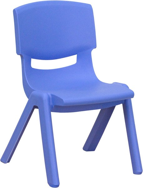 Flash Furniture Blue Plastic Stackable School Chair with 10.5 Inch Seat Height FLF-YU-YCX-003-BLUE-GG