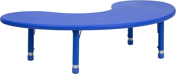 W 35 X L 65 Height Adjustable Half-Moon Plastic Activity Tables FLF-YU-YCX-004-2-MOON-TBL-GG-VAR