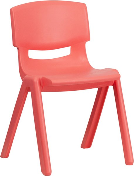 Red Plastic Stackable School Chair W/13.25 Inch Seat Height FLF-YU-YCX-004-RED-GG