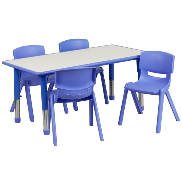 Flash Furniture Plastic 5pc Activity Table Sets with 4 Chairs FLF-YUYCY0600034RCTBLGGKTCHV1