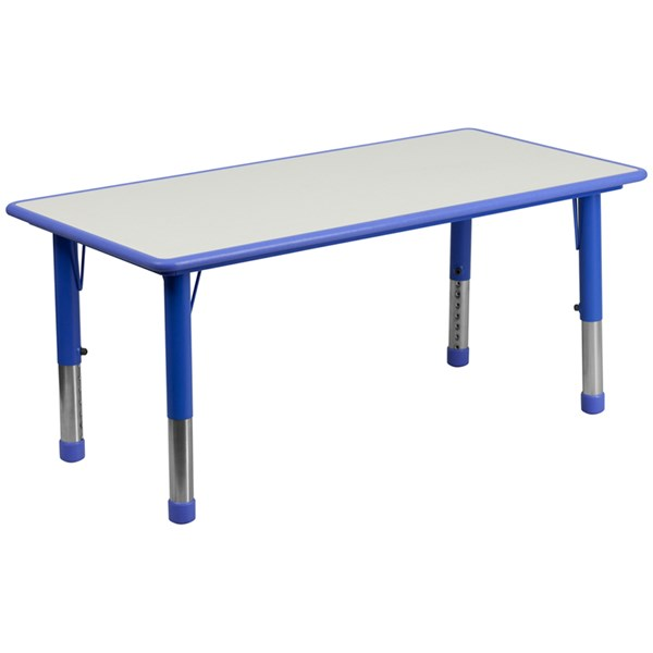Flash Furniture Rectangular Plastic Activity Tables with Grey Top FLF-YU-YCY-060-RECT-TBL-GG-KDSK-VAR