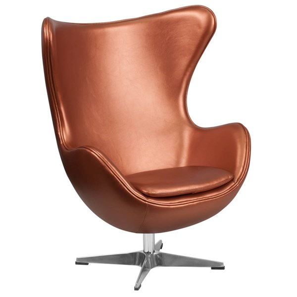 Flash Furniture Copper Gold Leather Egg Chair FLF-ZB-22-GG