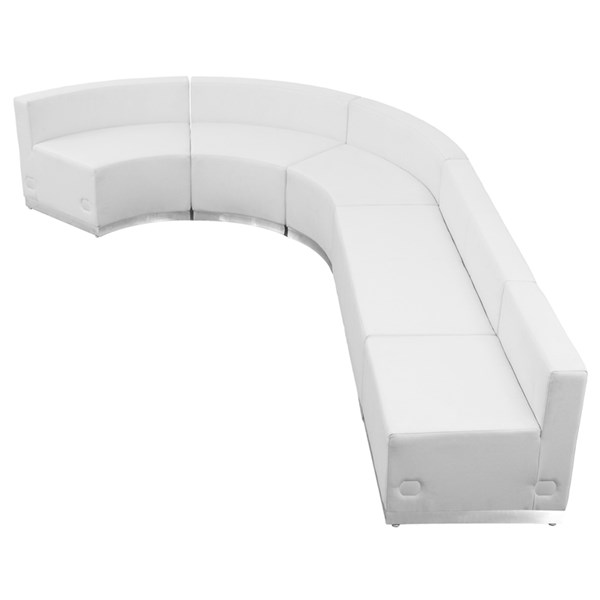 Flash Furniture Hercules Alon White 5pc Reception Configuration FLF-ZB-803-470-WHT-S1