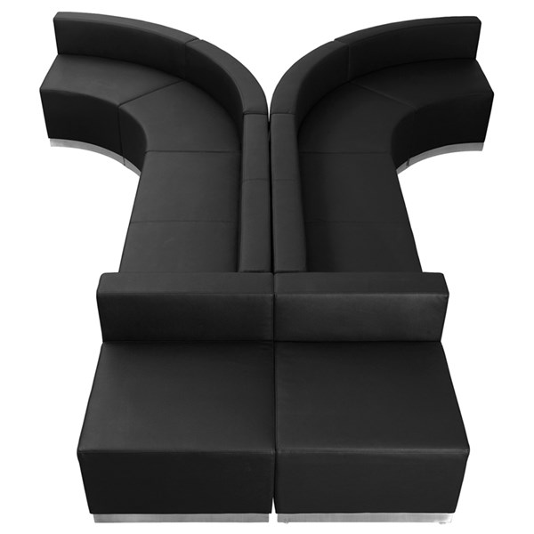 Flash Furniture Hercules Alon Leather Foam 8pc Reception Configurations FLF-ZB-803-620-SET-GG-SEC-VAR