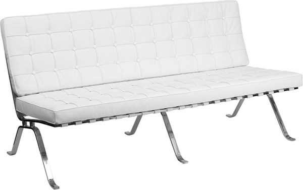 Hercules Flash Series White Leather Sofa with Curved Legs FLF-ZB-FLASH-801-SOFA-WHITE-GG