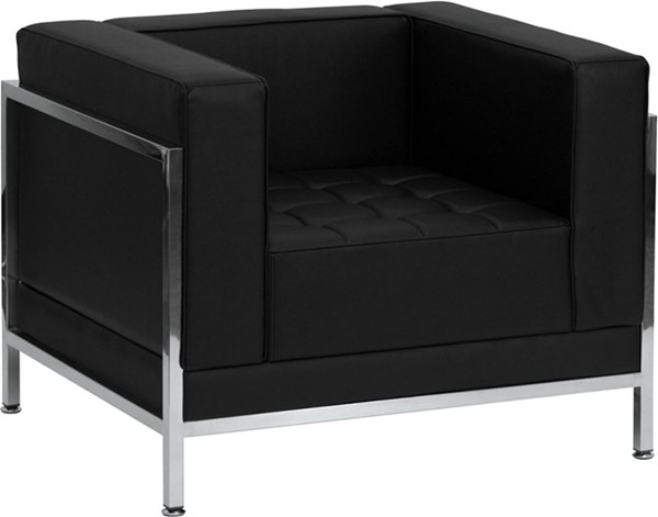 Hercules Imagination Contemporary Black Leather Encasing Frame Chair FLF-ZB-IMAG-CHAIR-GG