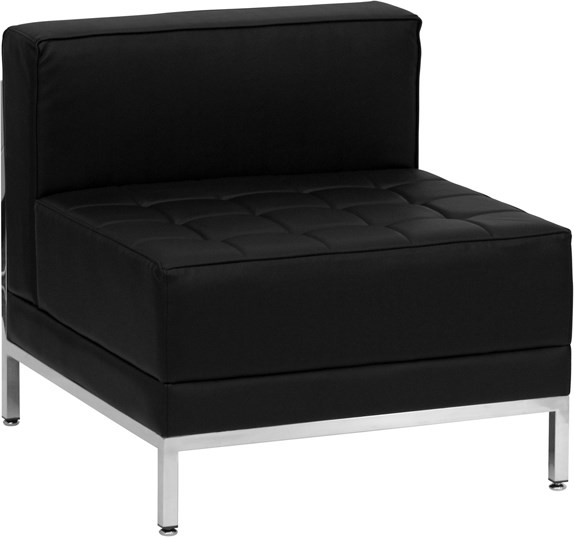 Hercules Imagination Series Contemporary Black Leather Middle Chair FLF-ZB-IMAG-MIDDLE-GG