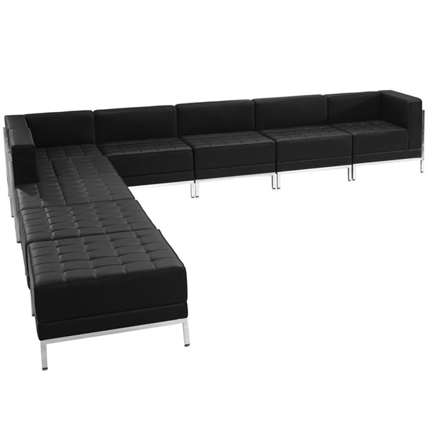 Flash Furniture Hercules Imagination Leather 9pc Sectional Configuration FLF-ZB-IMAG-BLK-SEC11-SEC-VAR