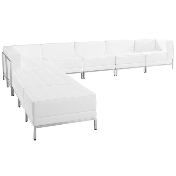 Flash Furniture Hercules Imagination White Leather 9pc Sectional Configuration FLF-ZB-IMAG-WHT-SEC11
