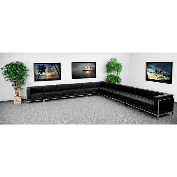 Flash Furniture Hercules Imagination Black 11pc Sectional Configuration FLF-ZB-IMAG-BLK-SEC2