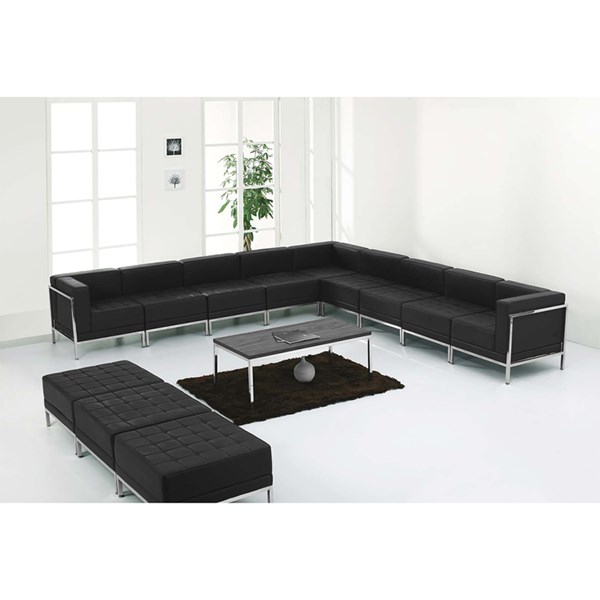 Flash Furniture Hercules Imagination 12pc Sectional and Ottoman Set FLF-ZB-IMAG-BLK-SEC25-SEC-VAR