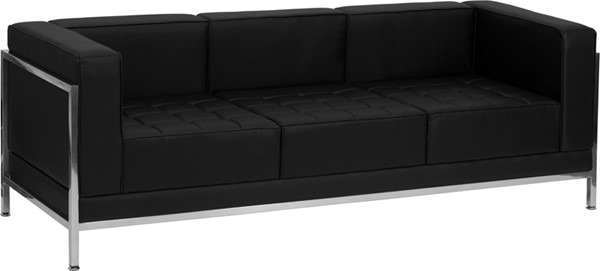 Flash Furniture Hercules Imagination Black Encasing Frame Sofa FLF-ZB-IMAG-SOFA-GG