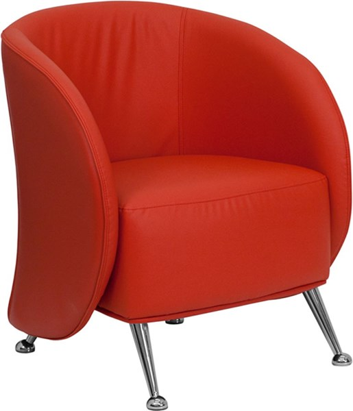 HERCULES Jet Series Red Leather Reception Chair FLF-ZB-JET-855-RED-GG