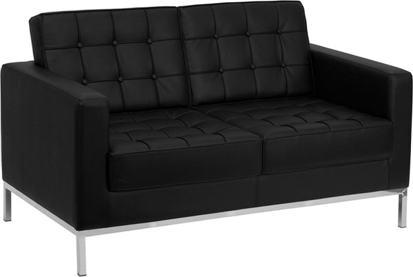 Flash Furniture Hercules Lacey Black Loveseat FLF-ZB-LACEY-831-2-LS-BK-GG