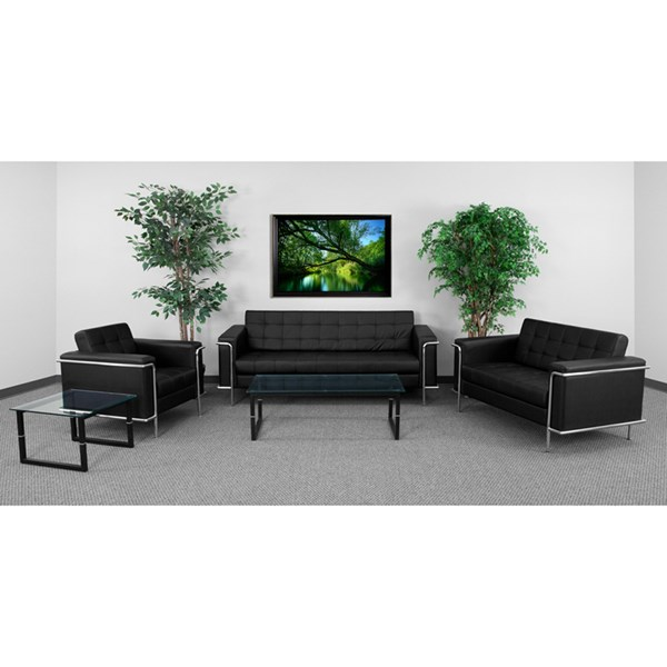 Hercules Lesley Contemporary Leather Encasing Frame Living Room Set The Classy Home