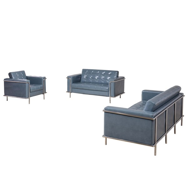 Flash Furniture Hercules Lesley Gray 3pc Reception Set FLF-ZB-LESLEY-8090-SET-GY-GG