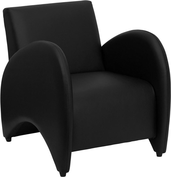Hercules Patrician Series Black Leather Rubber Reception Chair FLF-ZB-PATRICIAN-BLACK-GG