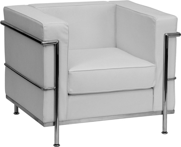 Flash Furniture Hercules Regal White Encasing Frame Chair FLF-ZB-REGAL-810-1-CHAIR-WH-GG