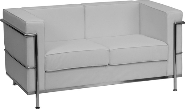 Hercules Regal White Bonded Leather Encasing Frame Loveseat FLF-ZB-REGAL-810-2-LS-WH-GG