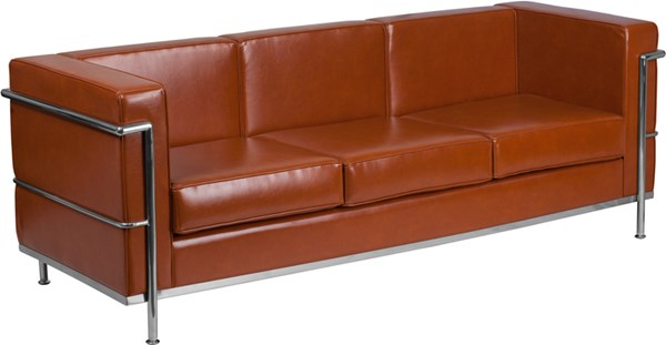 Flash Furniture Hercules Regal Cognac Encasing Frame Sofa FLF-ZB-REGAL-810-3-SOFA-COG-GG
