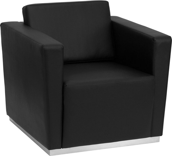 Flash Furniture Hercules Trinity Black Leather Chair FLF-ZB-TRINITY-8094-CHAIR-BK-GG