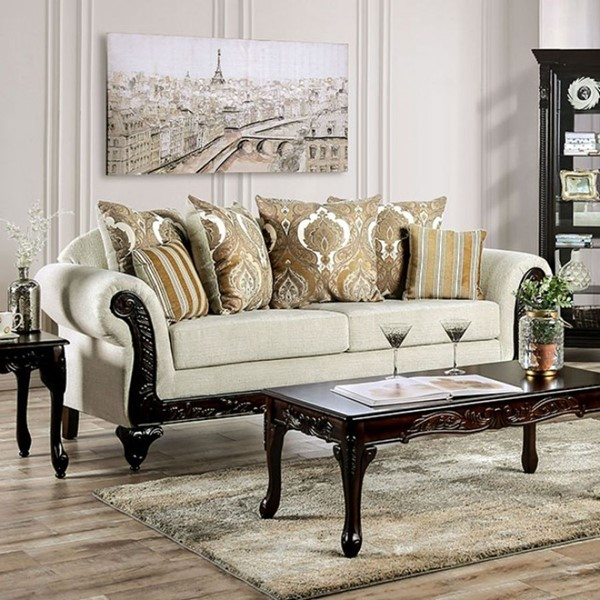 Furniture Of America Delizia Cream Sofa FOA-SM7748-SF