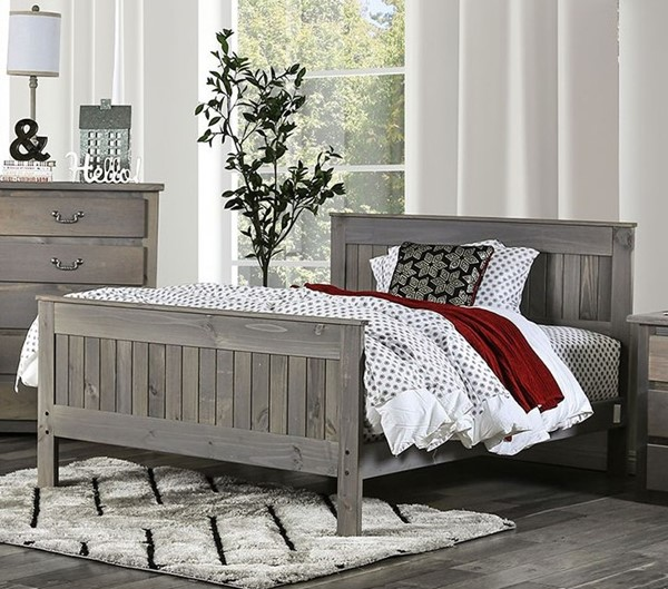 Furniture Of America Rockwall Weathered Gray Beds FOA-AM7973-BEDS
