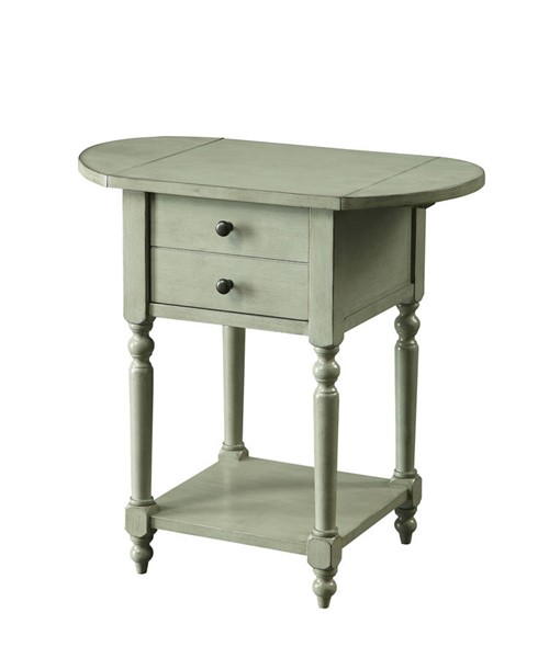 Furniture of America Beadle Antique Gray Side Table FOA-CM-AC166GY