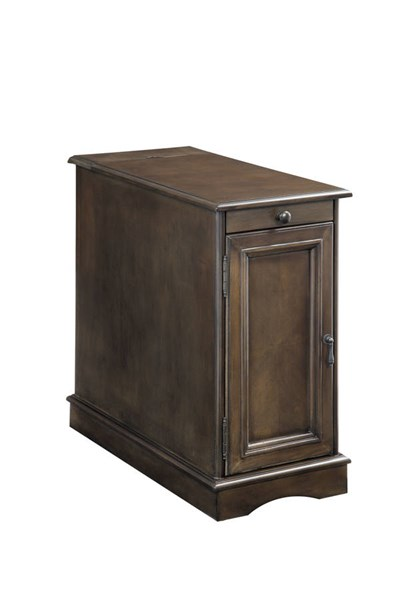 Furniture of America Lilith I Gray Side Table FOA-CM-AC171GY