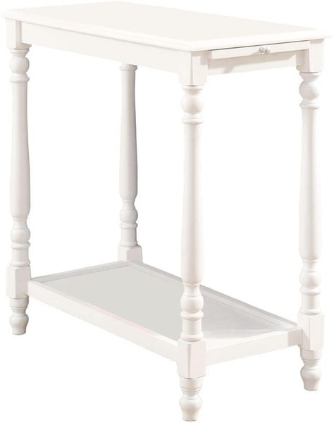 Furniture of America Deering White Side Table FOA-CM-AC222