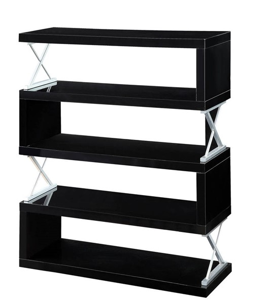 Furniture of America Niamh Black 5 Layer Shelf FOA-CM-AC291BK-5