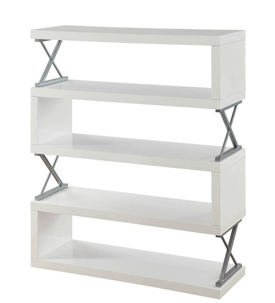 Furniture of America Niamh White 5 Layer Shelf FOA-CM-AC291WH-5