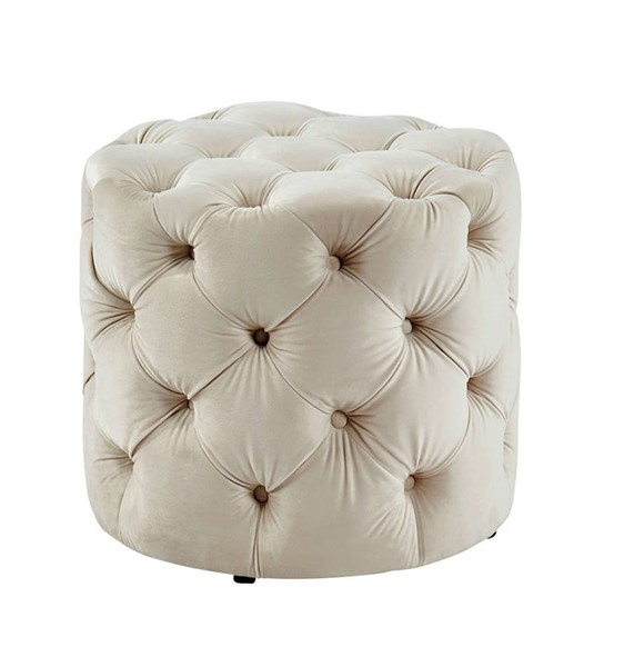 Furniture of America Irina Beige Ottoman FOA-CM-AC554BG