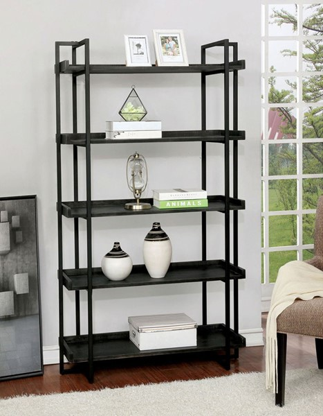 Furniture Of America Lucian Black Ladder Shelf FOA-CM-AC564