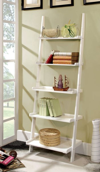 Furniture of America Sion White Ladder Shelf FOA-CM-AC6213WH