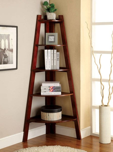 Furniture of America Lyss Cherry Ladder Shelf FOA-CM-AC6214CH