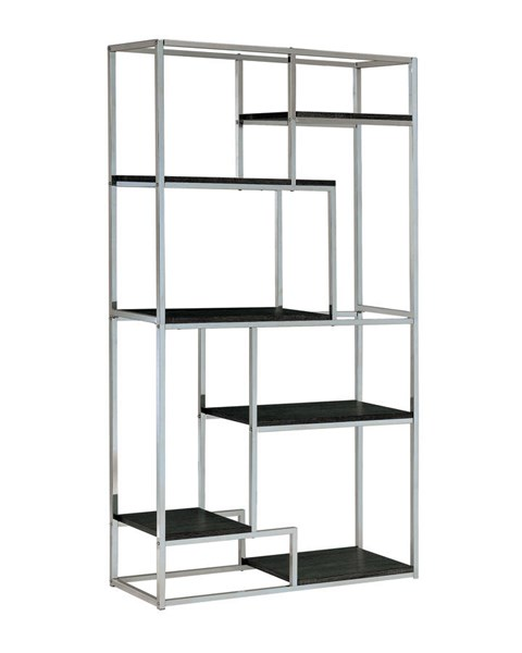Furniture of America Elvira Chrome Display Shelf FOA-CM-AC6264CRM