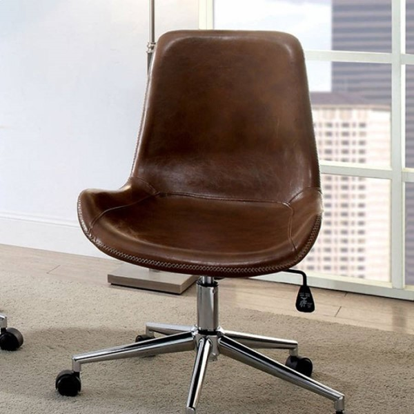 Furniture of America Mulholland Brown Office Chair FOA-CM-AC6530BR