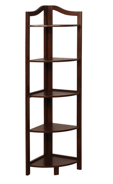 Furniture of America Alyssa Espresso Ladder Shelf FOA-CM-AC804EX