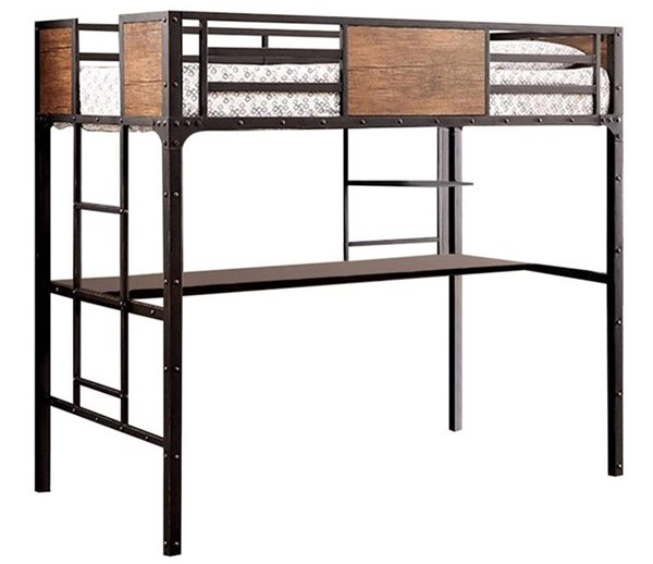 Furniture of America Clapton Twin Bed with Workstation FOA-CM-BK029TD