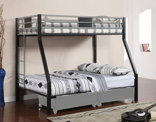 Furniture of America Clifton Twin Over Full Bunk Bed FOA-CM-BK1022