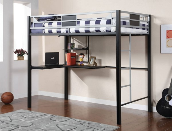 Furniture of America Clifton Full Loft Bed with Workstation FOA-CM-BK1027