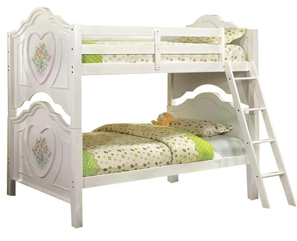 Furniture of America Isabella III Twin over Twin Bunk Bed FOA-CM-BK119-BED