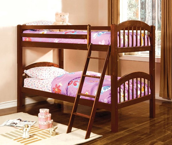 Furniture of America Coney Island Twin Over Twin Bunk Beds FOA-CM-BK524-BBED-VAR